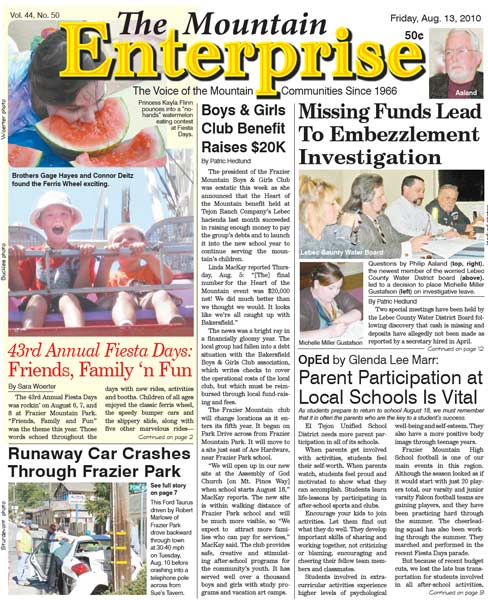 The Mountain Enterprise August 13, 2010 Edition