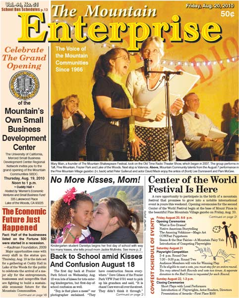 The Mountain Enterprise August 20, 2010 Edition
