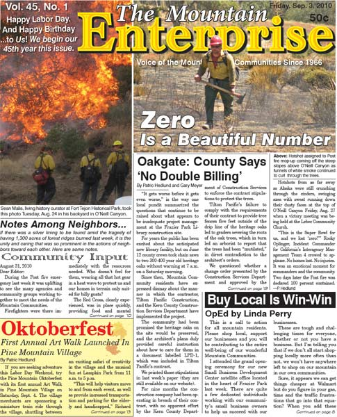 The Mountain Enterprise September 03, 2010 Edition