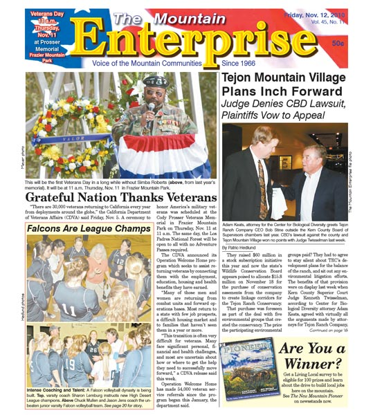 The Mountain Enterprise November 12, 2010 Edition