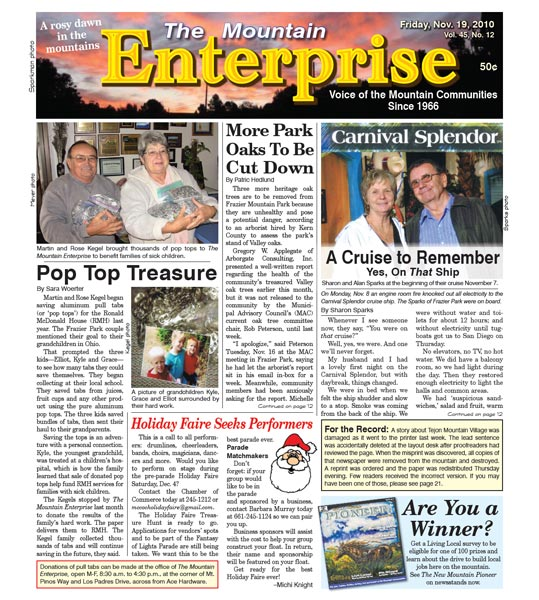 The Mountain Enterprise November 19, 2010 Edition