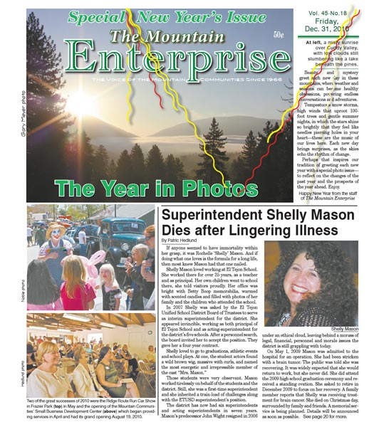 The Mountain Enterprise December 31, 2010 Edition