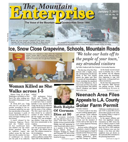 The Mountain Enterprise January 07, 2011 Edition