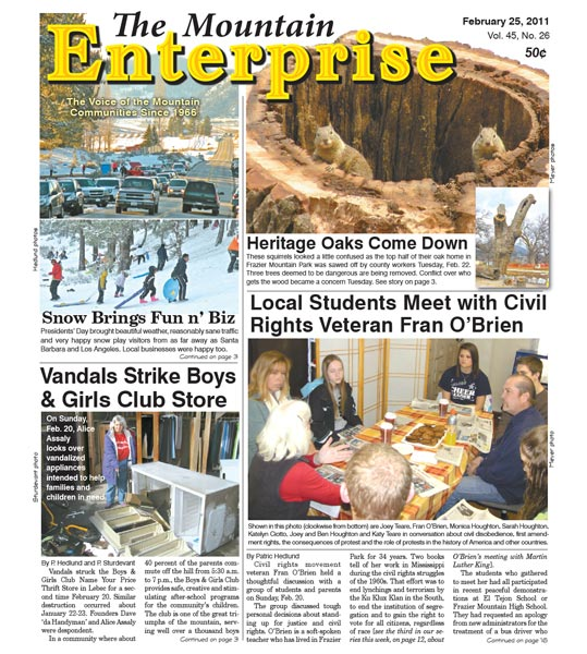 The Mountain Enterprise February 25, 2011 Edition