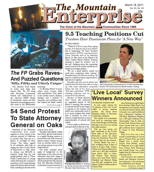 The Mountain Enterprise March 18, 2011 Edition