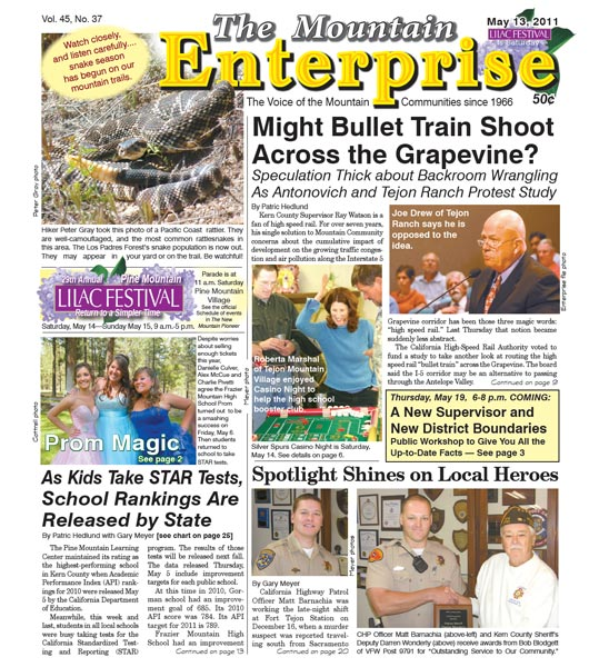 The Mountain Enterprise May 13, 2011 Edition