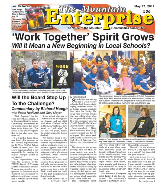 The Mountain Enterprise May 27, 2011 Edition