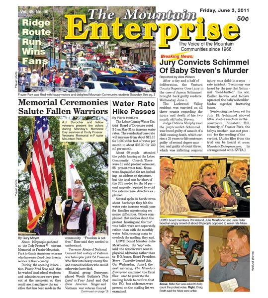 The Mountain Enterprise June 03, 2011 Edition