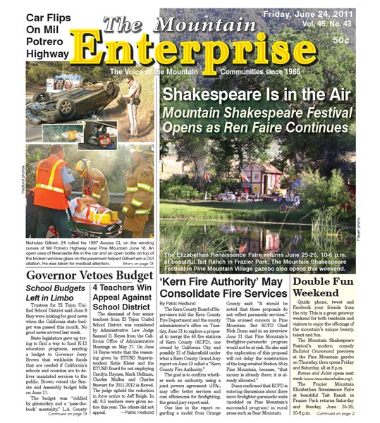 The Mountain Enterprise June 24, 2011 Edition