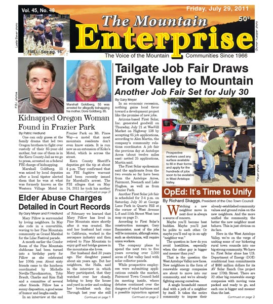 The Mountain Enterprise July 29, 2011 Edition