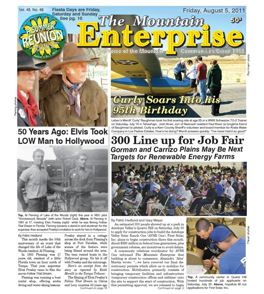 The Mountain Enterprise August 05, 2011 Edition