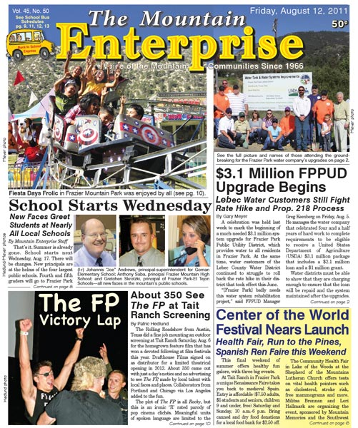 The Mountain Enterprise August 12, 2011 Edition