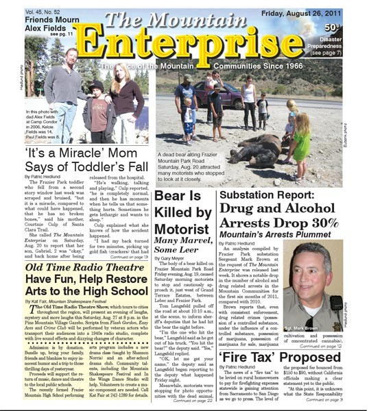 The Mountain Enterprise August 26, 2011 Edition