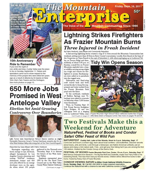 The Mountain Enterprise September 16, 2011 Edition