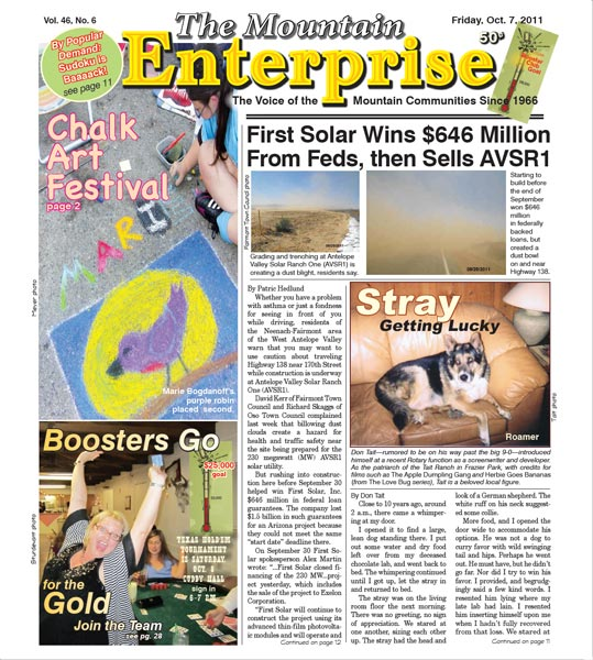 The Mountain Enterprise October 07, 2011 Edition