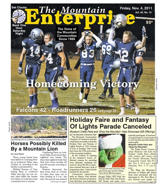 The Mountain Enterprise November 04, 2011 Edition