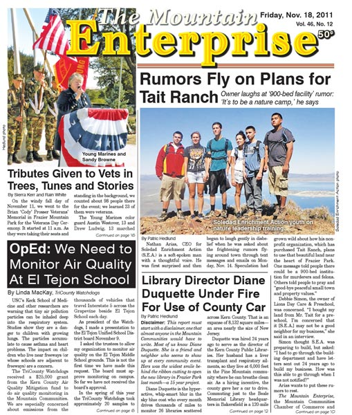 The Mountain Enterprise November 18, 2011 Edition