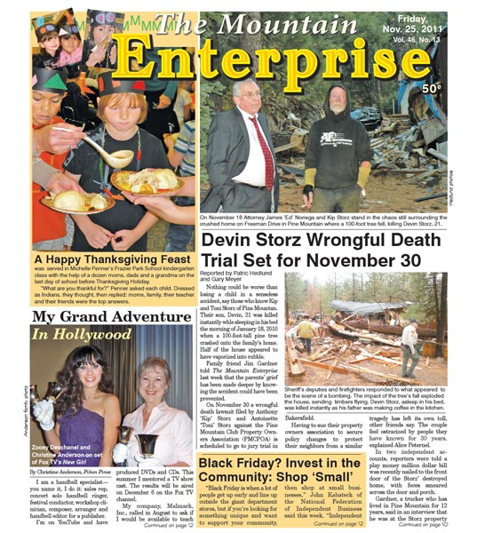 The Mountain Enterprise November 25, 2011 Edition