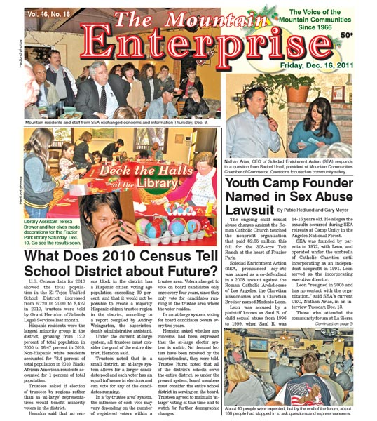 The Mountain Enterprise December 16, 2011 Edition