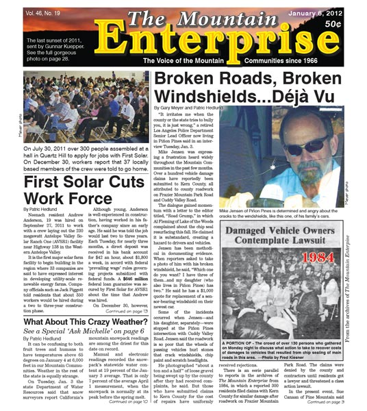 The Mountain Enterprise January 06, 2012 Edition