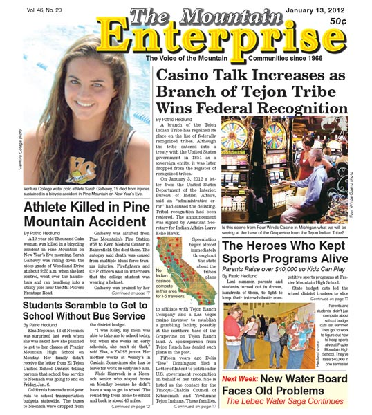 The Mountain Enterprise January 13, 2012 Edition