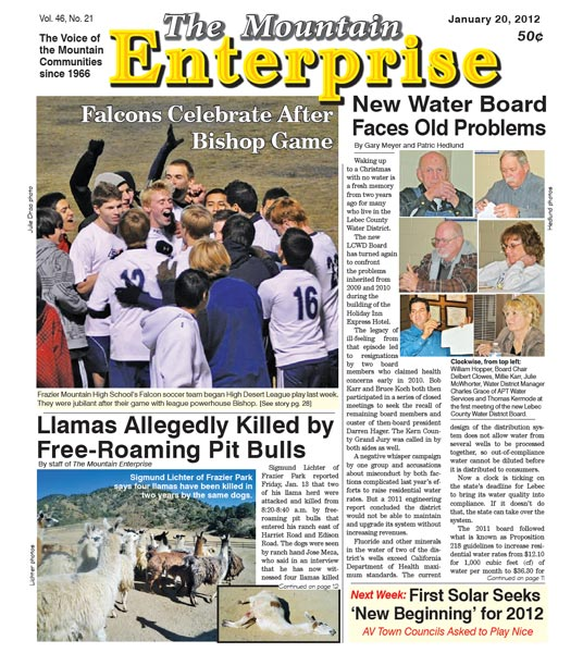 The Mountain Enterprise January 20, 2012 Edition