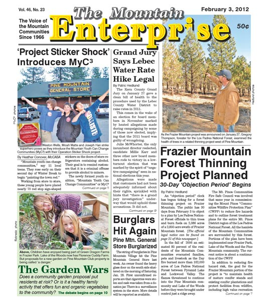 The Mountain Enterprise February 03, 2012 Edition