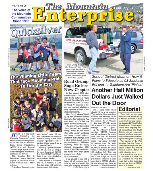 The Mountain Enterprise February 24, 2012 Edition