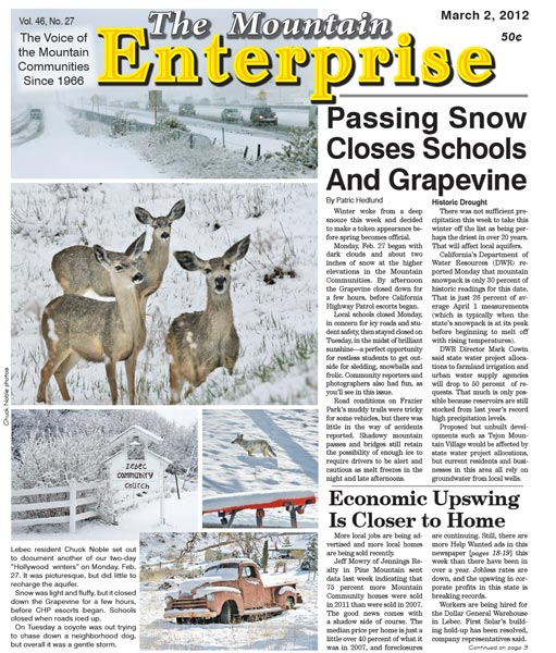 The Mountain Enterprise March 02, 2012 Edition