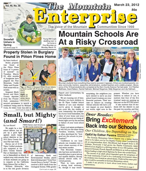 The Mountain Enterprise March 23, 2012 Edition