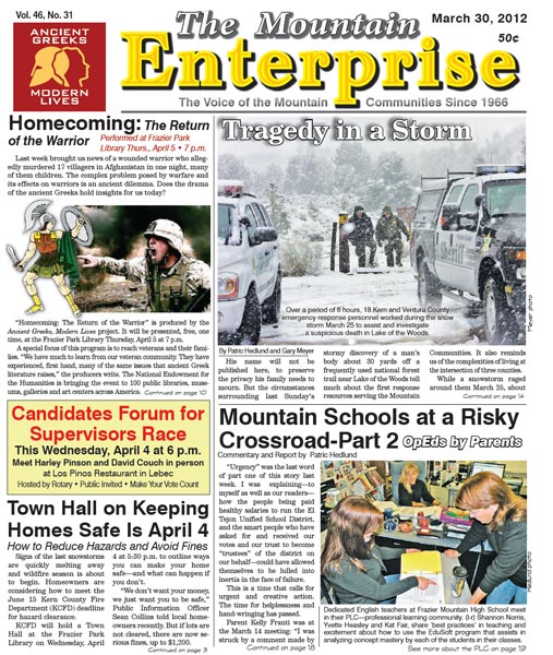 The Mountain Enterprise March 30, 2012 Edition
