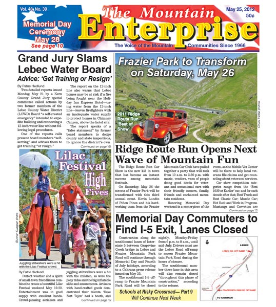 The Mountain Enterprise May 25, 2012 Edition
