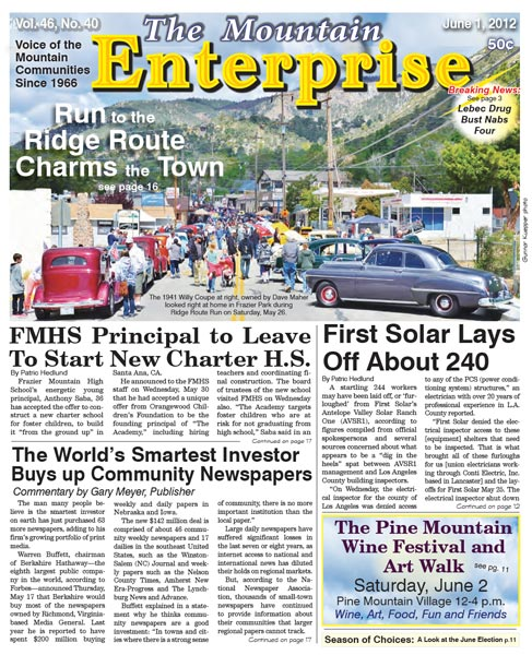 The Mountain Enterprise June 01, 2012 Edition