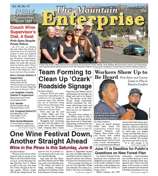 The Mountain Enterprise June 08, 2012 Edition