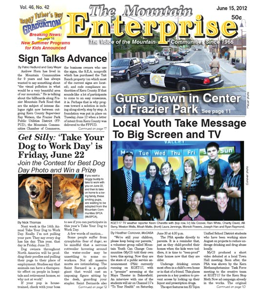 The Mountain Enterprise June 15, 2012 Edition