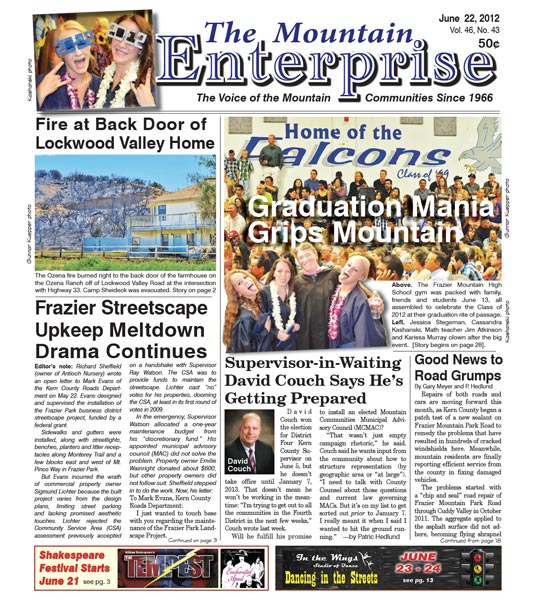 The Mountain Enterprise June 22, 2012 Edition