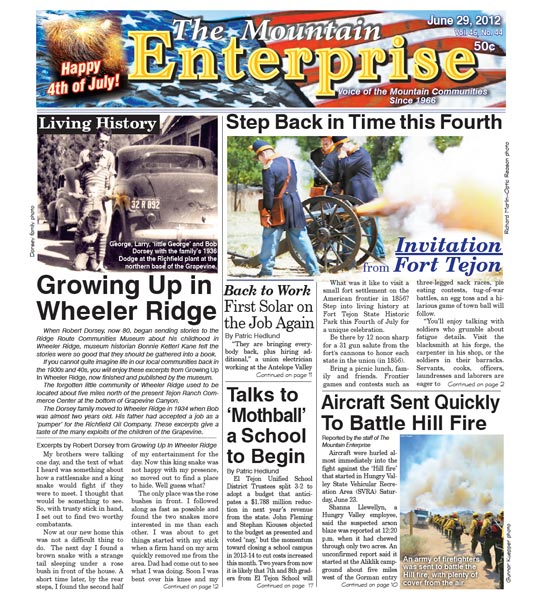 The Mountain Enterprise June 29, 2012 Edition