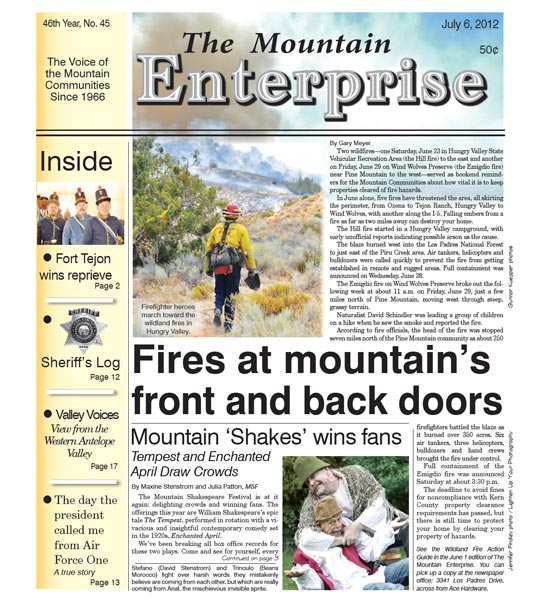 The Mountain Enterprise July 06, 2012 Edition