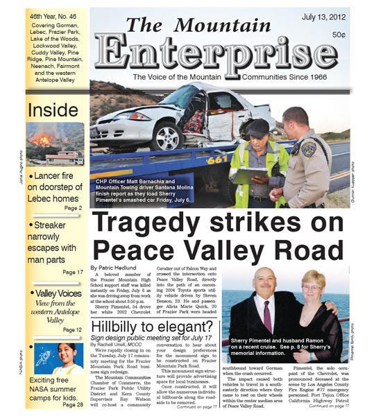 The Mountain Enterprise July 13, 2012 Edition