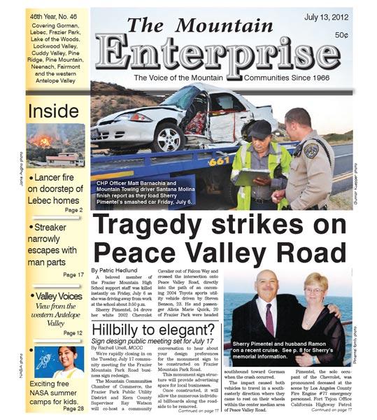 The Mountain Enterprise July 13, 2012 Edition