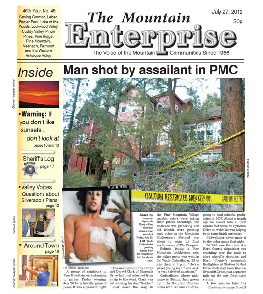The Mountain Enterprise July 27, 2012 Edition