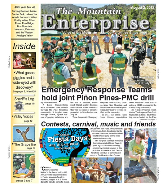 The Mountain Enterprise August 03, 2012 Edition