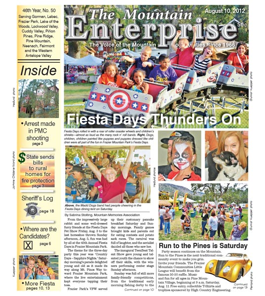 The Mountain Enterprise August 10, 2012 Edition