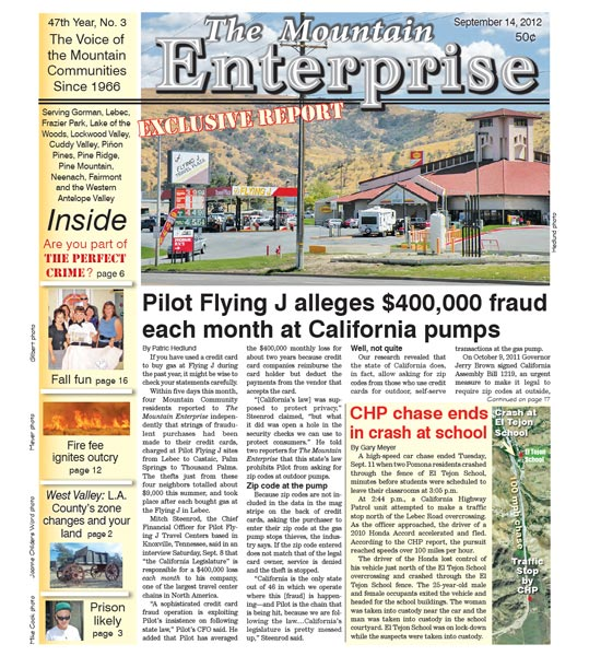 The Mountain Enterprise September 14, 2012 Edition