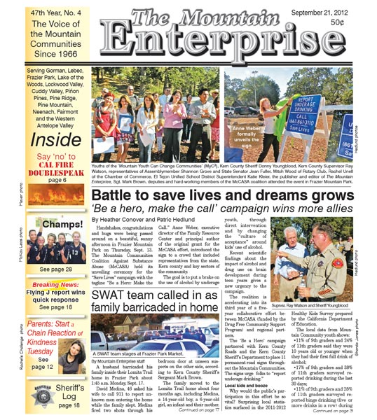 The Mountain Enterprise September 21, 2012 Edition