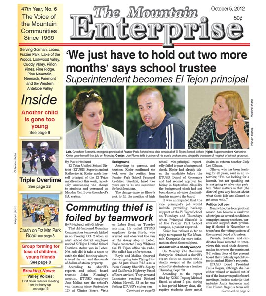 The Mountain Enterprise October 05, 2012 Edition