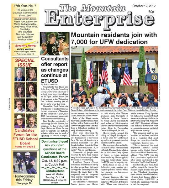 The Mountain Enterprise October 12, 2012 Edition