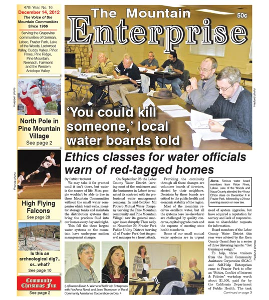 The Mountain Enterprise December 14, 2012 Edition