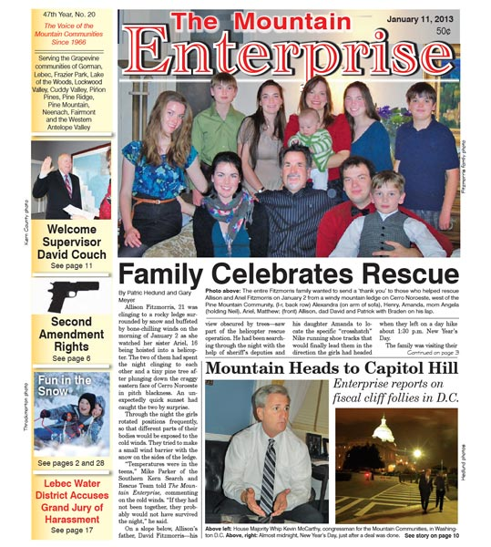 The Mountain Enterprise January 11, 2013 Edition