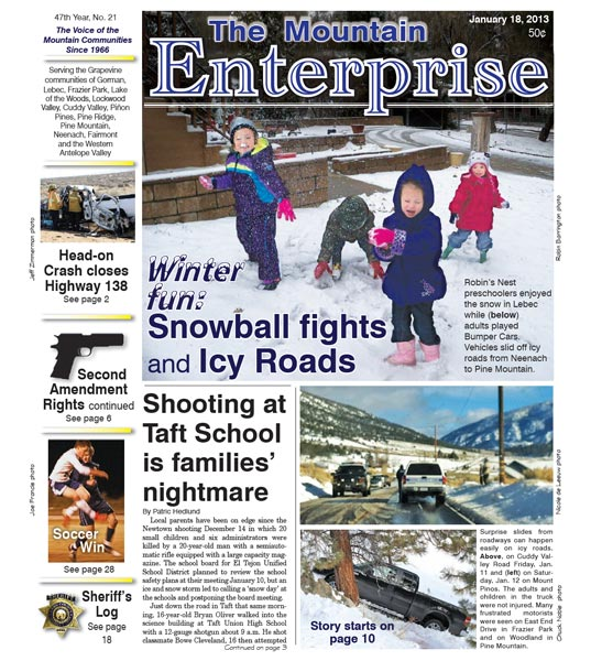 The Mountain Enterprise January 18, 2013 Edition